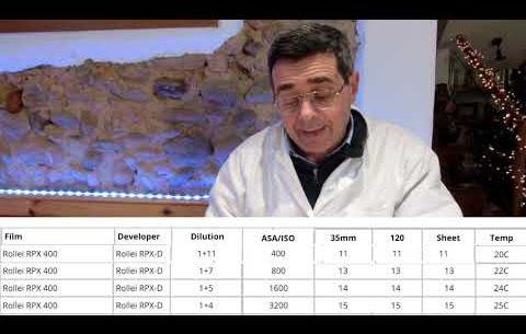 La pellicola Rollei RPX 400 TIRATA A 3200 ISO PRIMA PARTE: LO SVILUPPO
