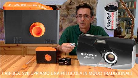 LAB-BOX: sviluppiamo una pellicola in modo tradizionale. prebagno, sviluppo, arresto, fissaggio, lavaggio