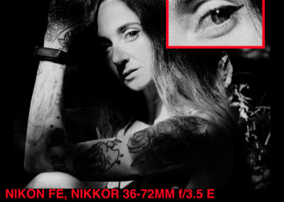 Nikon FE Rollei Retro 400s Angelica sulla panchina crop 1080