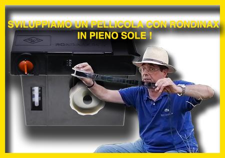 SVILUPPIAMO UNA PELLICOLA CON LA TANK DAYLIGHT AGFA RONDINAX… IN PIENO SOLE!